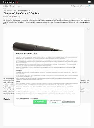 Bonedo.de Electro-Voice Cobalt CO4