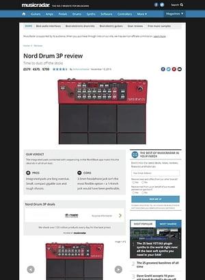 MusicRadar.com Nord Drum 3P