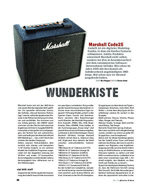 Gitarre & Bass Marshall Code25, Modeling-Combo
