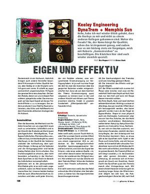 Gitarre & Bass Keeley Engineering DynaTrem & Memphis Sun, FX-Pedale