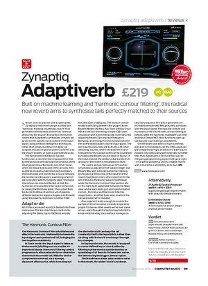Computer Music Zynaptiq Adaptiverb