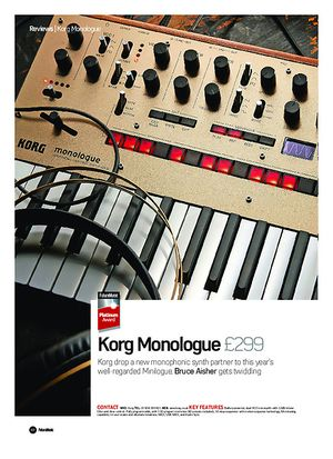 Future Music Korg Monologue