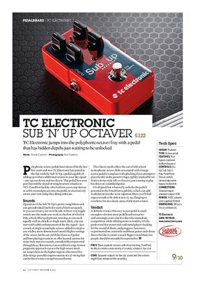 Guitarist TC Electronic Sub 'n' Up Octaver