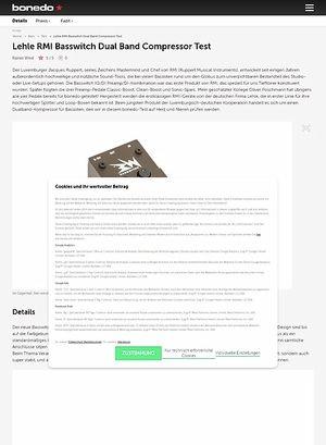 Bonedo.de Lehle RMI Basswitch Dual Band Compressor