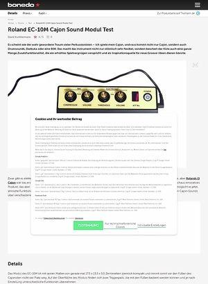 Bonedo.de Roland EC-10M Cajon Sound Modul