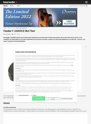 Bonedo.de Fender F-1020SCE BLK
