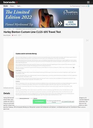 Bonedo.de Harley Benton Custom Line CLGS-10S Travel