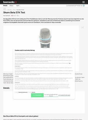 Bonedo.de Shure Beta 57A