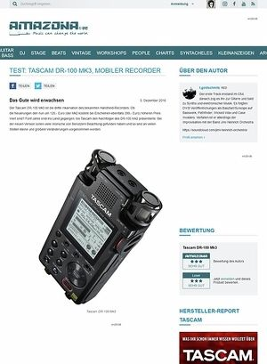 Amazona.de Tascam DR-100 Mk3