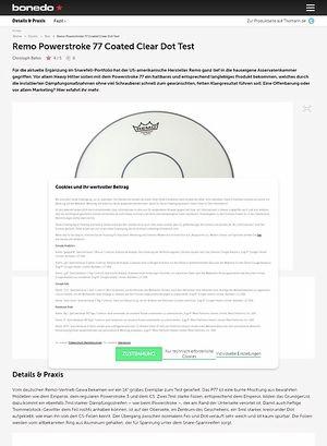 Bonedo.de Remo Powerstroke 77 Coated Clear Dot