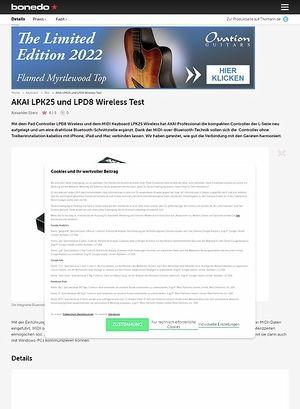 Bonedo.de AKAI LPK25 und LPD8 Wireless
