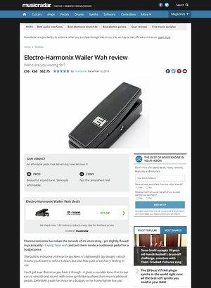 MusicRadar.com Electro-Harmonix Wailer Wah