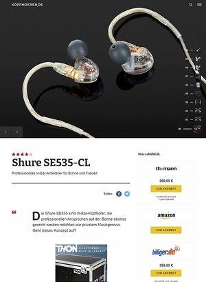 Kopfhoerer.de Shure SE535-CL