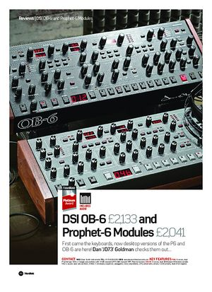 Future Music Dave Smith Instruments OB-6 Module