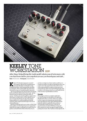 Guitarist Keeley Tone Workstation