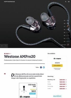 Kopfhoerer.de Westone AMPro20
