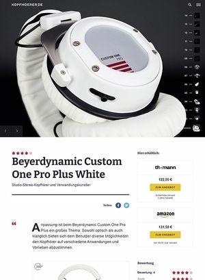 Kopfhoerer.de Beyerdynamic Custom One Pro Plus WH