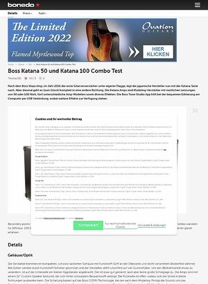 Bonedo.de Boss Katana 50 und Katana 100 Combo