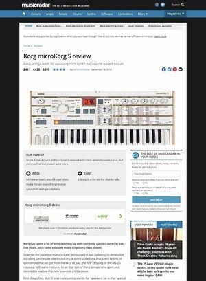 MusicRadar.com Korg microKorg S