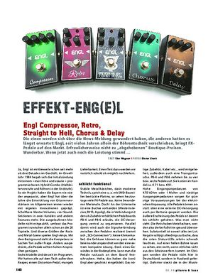 Gitarre & Bass Engl Compressor, Retro, Straight to Hell, Chorus, Delay
