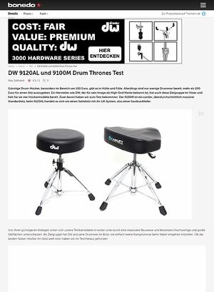 Bonedo.de DW 9120AL und 9100M Drum Thrones