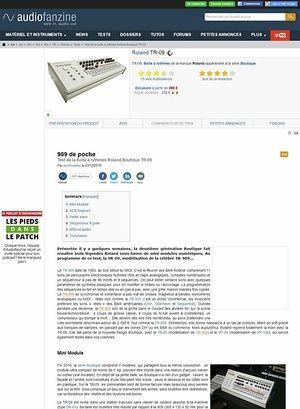Audiofanzine.com Roland TR-09