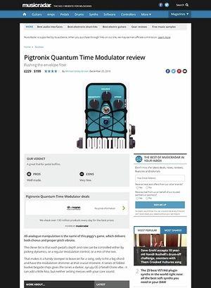 MusicRadar.com Pigtronix Quantum Time Modulator