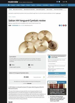 MusicRadar.com Sabian HH Vanguard Cymbals