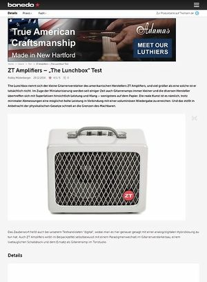 "Bonedo.de ZT Amplifiers – ""The Lunchbox"""