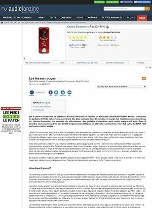 Audiofanzine.com Keeley Electronics Red Dirt Mini