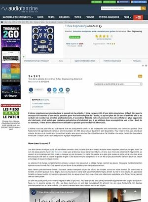 Audiofanzine.com T-Rex Engineering Alberta II