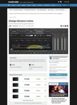 MusicRadar.com iZotope Neutron
