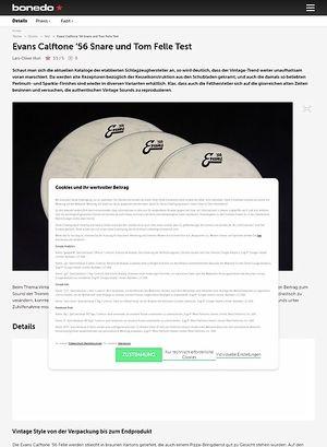 Bonedo.de Evans Calftone '56 Snare- und Tom-Felle
