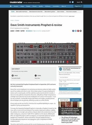 MusicRadar.com Dave Smith Instruments Prophet-6