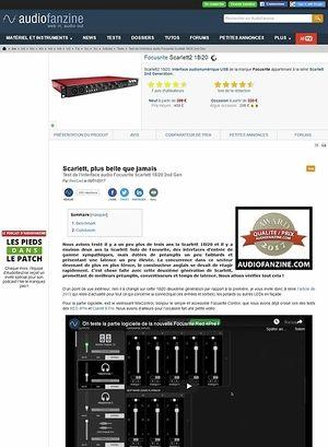 Audiofanzine.com Focusrite Scarlett2 18i20