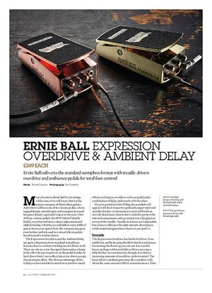 Guitarist Ernie Ball Expression Overdrive