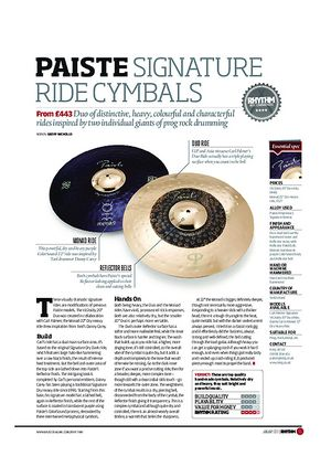Rhythm Paiste Signature Ride Cymbals