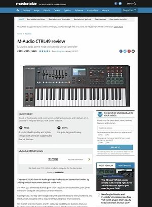 MusicRadar.com M-Audio CTRL49