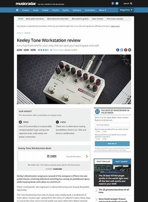 MusicRadar.com Keeley Tone Workstation