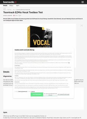 Bonedo.de Toontrack EZMix Vocal Toolbox