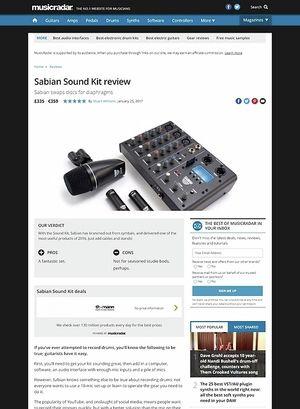 MusicRadar.com Sabian Sound Kit