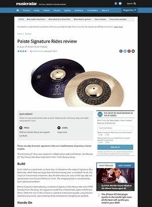 MusicRadar.com Paiste Signature Rides