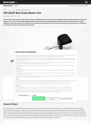 Bonedo.de DW 101SP Bass Drum Beater