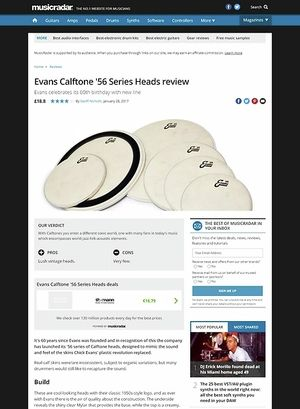 MusicRadar.com Evans Calftone '56 Series Heads