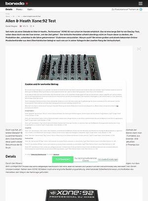Bonedo.de Allen & Heath Xone:92
