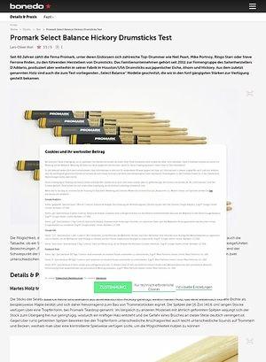 Bonedo.de Promark Select Balance Hickory Drumsticks