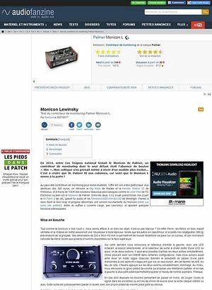 Audiofanzine.com Palmer Monicon L