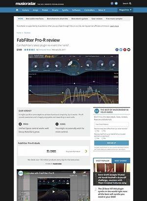 MusicRadar.com FabFilter Pro-R