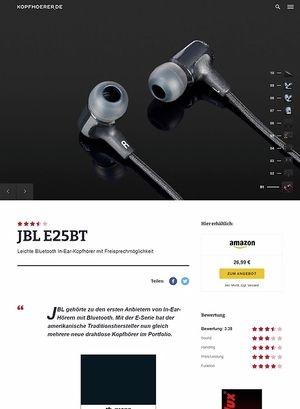 Kopfhoerer.de JBL by Harman E25 BT Black