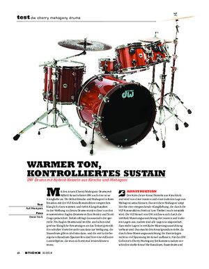 Sticks DW Cherry Mahogany Drums